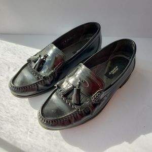 Hush Puppies classic leather black tassel loafers